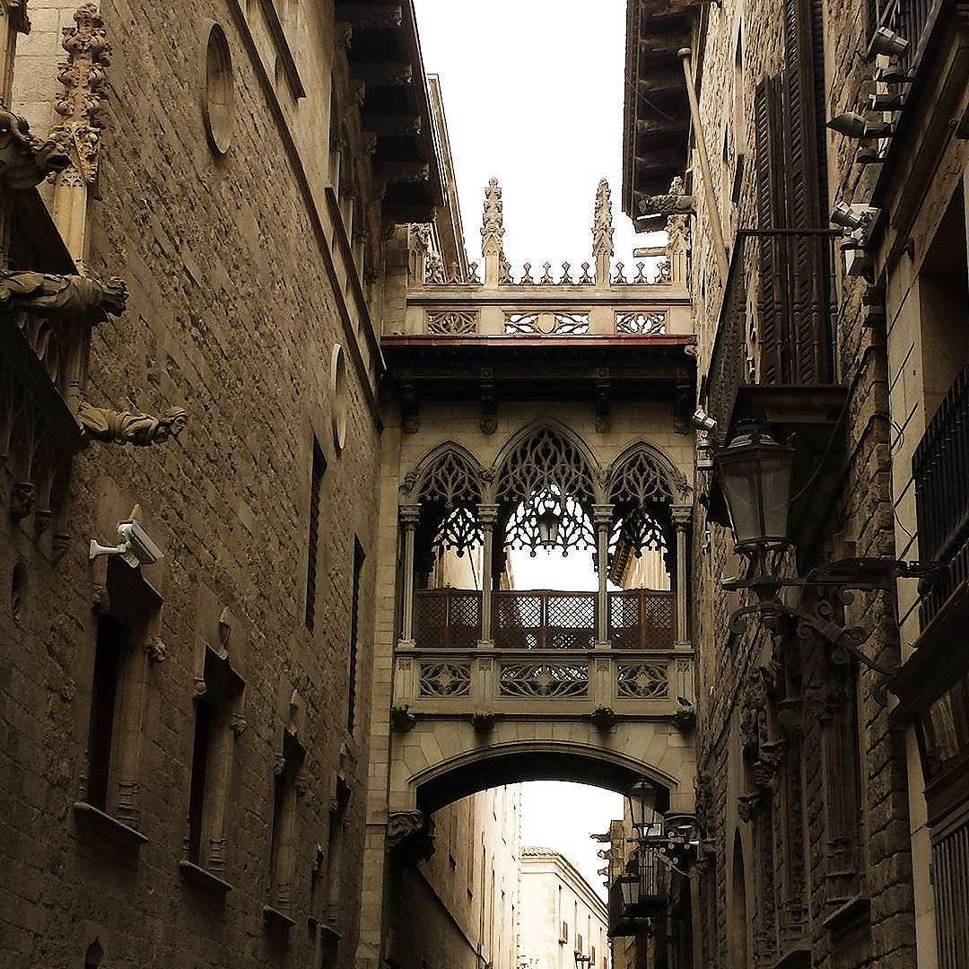 Le quartier gothic. Barcelone.