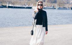 jupe metallisée lamé