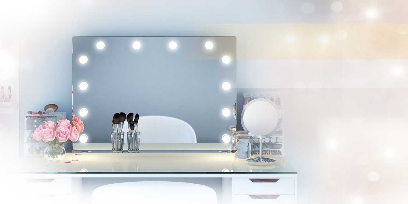 miroir led l atout num ro 1 pour un look de star. Black Bedroom Furniture Sets. Home Design Ideas