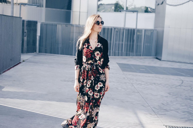robe fleurs pashmina