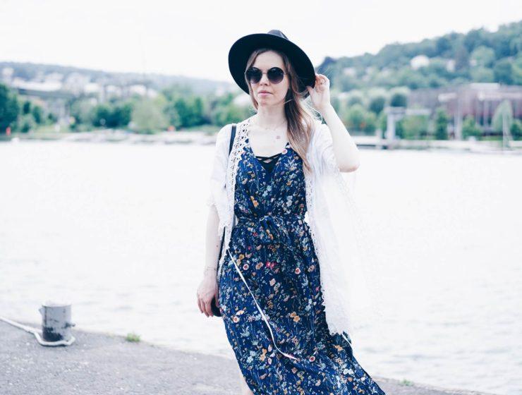 robe longue imprimé
